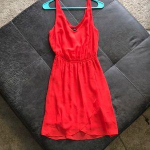Red/orange cocktail dress